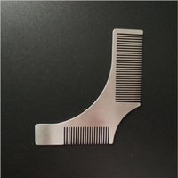 Wholesale beard shapes - 1Pc HOT SELLING Stainless Steel Beard Shaping Template Comb Trim Tool Shaving Tool Comb cm