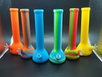 Wholesale Easy Clean Water Filter - silicone nectar collector oil rig 34 cm high, portable hookah, easy to clean water filter, hookah, multi color, customizable logo