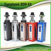 Wholesale Innovative Green - Original MJTECH Tomahawk 80W Starter Kits Innovative Battery Door with 2ml Top Refilling Tomahawk X9 Tank atomizers Kit 100% Authentic