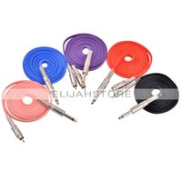 Wholesale Silica Gel Rca Clip Cord - Wholesale-CHUSE Steel Gel RCA cable 2.4 m Length imported silica Tattoo Clip Cord For Tattoo Machine Gun Power Supply 5 Colors lips