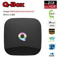 Wholesale Android Mx - Q Box 2G 16G Android 6.0 TV Box Amlogic S905X Quad Core 2.4 5.0Ghz WiFi LAN Bluetooth 4.0 H.265 4K Fully Loaded MX MXQ M8S Free DHL