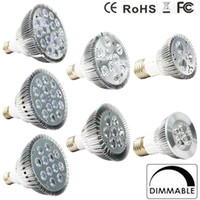 Wholesale E27 Par38 Led Warm White - 2017 Dimmable Led bulb par38 par30 par20 85-240V 9W 10W 14W 18W 24W 30W E27 LED Lighting Spot Lamp light downlight