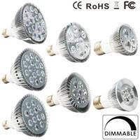 ingrosso lampadine principali e27 24w-Lampadina a led dimmerabile par38 par30 par20 85-240V 9W 10W 14W 18W 24W 30W E27 Illuminazione a LED Spot Spot