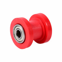 Wholesale Dirt Roller - 1 Pcs 10mm Chain Roller Slider Tensioner Wheel Guide Pit Dirt Mini Bike Moto Atv High Quality Red Blue Yellow Green Colors