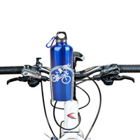Wholesale bike bicycle aluminum water resale online - Cycling Bike Bicycle Black Silver Aluminum Alloy Handlebar Water Bottle Holder Storage Cages Rack