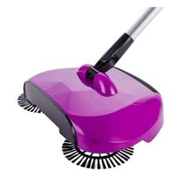Wholesale floor brooms - Automatic Hand Push Sweeper Magic Spinning Broom Cleaning No Electric Household Sweeper Dustpan Set Floor Home Cleaning