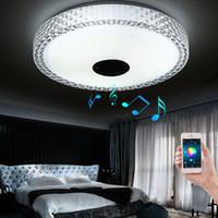 Wholesale Design Dimmer Led - New Design APP Bluetooth Music LED Ceiling Light Smartphone Dimming Discoloration Light Fixture LED Modern Lighting