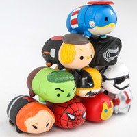 Wholesale Black Spider Man Figure - 10pcs Tsum Tsum Mini Figure Figurine Captain America Ironman Spider-man Thor Black Widow For Brinquedos Gifts Collectible Toys