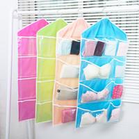 Wholesale Hanging Sock Organizer - Foldable Wardrobe Hanging Bags Socks Briefs Organizer Clothing Hanger Closet Shoes Underpants Storage Bag Wear Durable Hot Sell 3 8bx J1 R