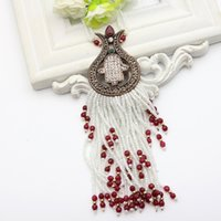 Luxuriant Women 80cm Long Beads Necklace Resina turca Tulip Flower Bead Jewelry Tassel Necklace Retro Gold Color Royal Jewelry