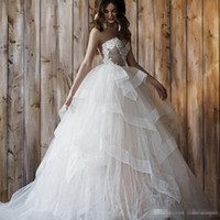 Wholesale Wedding Dresses Convertible Skirt - Convertible Two Pieces Lace Ball Gown Wedding Dresses 2017 Sweetheart Layered Tulle Lace Corset Wedding Bridal Gown Custom Made