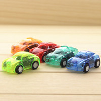 Wholesale Light Toys For Sale - Wholesale 5 colors Transparent Mini Plastic Car Toys Cute Pull Back Car Kid's Wind-up Toys Retail Opp Bags Packaging for Sale