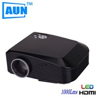 Wholesale Outlet Hdmi - Wholesale-AUN LED Projector Factory outlets 800*480 1000 Lumens With 4inch LCD TFT Display System 3D Projector For Home Cinema X7BG5