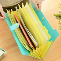 Wholesale Random Books - Wholesale- The New Book Waterproof Bags A4 Paper Folder Document Folding Design Color Random Rectangle Office Homeschooling