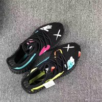 Wholesale Best Art Canvas - 2017 Original Quality 350V2 Real Boost Black Best Top Black Red KAWS X X KAW S Kanye West Running Sneakers Boost 350 V2 Outdoor Sport Shoes
