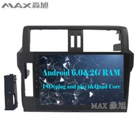 """Wholesale Toyota Prado Android - HD 10.2"""" 2G+16G Android 6.0 Car DVD Player for Toyota prado  LC150  150 2014-2016 with 1024*600 Radio BT WIFI SWC"""