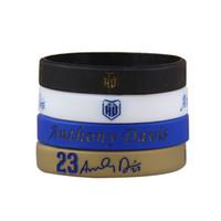 Wholesale silicone bracelet energy new - Anthony Davis Signature Bracelets New Orleans Basketball Star No.23 Sport Wristbands For Mens Gym Fitness Elastic Energy Bracelet