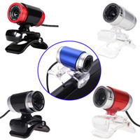 Wholesale Laptops Built Camera - 4 Colors USB Computer Desktop Laptops Accessories Wired HD Webcams Camera Built-in 10m Sound-absorbing Microphone 2956
