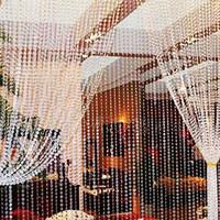 Wholesale Windows Door Roller - Wholesale- 30 Meters Transparent Plastic Resin Beads Curtain Window Door Wedding Backdrop