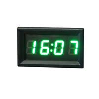 Wholesale Handlebars Clock - Wholesale-AUTO green 4.8cm Motorcycle Accessory Handlebar Mount Clock Watch Universal Waterproof Motorcycle Thermometer Clock Watch SE 16