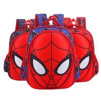 çocuk sırt çantaları toptan satış-3D Örümcek-Adam İlköğretim Okulu Öğrenci Çantası Karikatür Çocuk Çantası Anaokulu Sırt Çantası Toptan Perakende