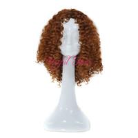 ayarlanabilir peruklar toptan satış-ADJUSTABLE peruk herhangi bir kafa takım KINKY CURLY Sıçrama CURL Mikro örgü peruk siyah kadınlar için afrika amerikan JANAMINAC büküm 18 inç sentetik peruk