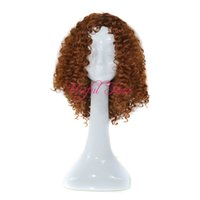 pelucas de cabeza rizada al por mayor-AJUSTABLE peluca traje cualquier cabeza KINKY CURLY Bounce CURL Micro trenza peluca afroamericana JANAMINAC twist 18 pulgadas pelucas sintéticas para mujeres negras
