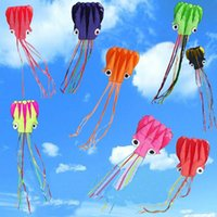 Wholesale Outdoor Stunts - 10 colors 4 m Octopus Kite Single Line Stunt  Software Power Kite With Flying Tools Inflatable And Easy To Fly Kids Outdoor Fun