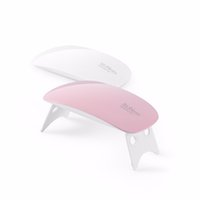 Wholesale mouse settings - Wholesale- 6w mini UV LED lamp nail dryer portable USB cable for prime gift home use 45s 60s timer setting Mouse Shape Nail Dryer