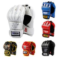 Wholesale Training Boxeo - Mma Muay Thai Kick Boxing Gloves Half Fingers Fighting Boxing Gloves Competition Training Gloves Guantes De Boxeo Fitness Gear
