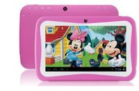 "Wholesale Quad Machine - 7 "" children's Tablet PC learning machine students Tablet PC education Tablet PC Android 4.4 quad-core 512MB 8GB 1024x600 Bluetooth"