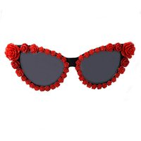 Wholesale flower sun glasses for sale - Group buy Vintage Cateye Sunglasses Women Cat Eye Brand Designer For Womens Sun Glasses Black With Rhinestones Flowers accessories