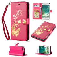 Wholesale Wholesale S4 Cases - Bronzing Printing Leather Wallet Case Butterfly Newest Cover For Samsung S5 S6 S7 S4 S5 Mini S6 Edge Plus