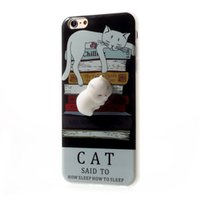 Wholesale I Phone 3d Cover - Squishy Phone Cover, 3D Cute Soft Silicone Squishy Lovely Cat Phone Case for i iPhone 7 Plus