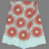 Wholesale New arrival African cotton lace textile nice dry lace cloth Swiss voile lace fabric for party dress LC6 yards