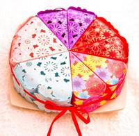 Wholesale Triangle Shaped Cake Boxes - Wholesale 500 lot Korean Cake Candy Box Triangle Shape Gift wrap bag Birthday Wedding chocolate cake Box