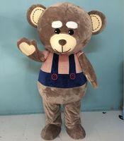 Wholesale Teddy Bear Mascot Costume Head - SX0725 100% positive feedback big head big belly brown teddy bear mascot costume for adult to wear