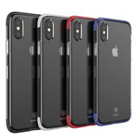 Wholesale baseus iphone case - Baseus iphone x Phone Case Luxury Armor Double Soft TPU Shockproof Back Case Cover for iPhone X