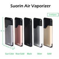 Wholesale E Cigarettes Liquids - Original Icub Suorin Air Vaporizer Kit 2ml Cartridge 400mAh Battery Fashion Portable E Cigarette E Liquid Vape Kit