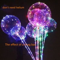 Wholesale can flasher - New Light Up Toys LED String Lights Flasher Lighting Balloon Wave Ball 18inch air can float Balloons Balloons Christmas Decoration Toys