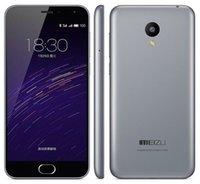 Wholesale Meizu Quad - Unlocked Original MeiZu Meilan2 M2 Smart Mobile Phone 2GB RAM 16GB ROM MT6735 Quad Core Android 5.1 5.0inch 13.0MP OTG 4G LTE Cell Phone
