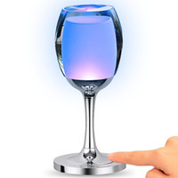 Wholesale Color Changing Led Bar Light - Acrylic USB Rechargeable RGB Multicolor Color Changing LED Wine Glass Cup Lamp Night Mood Light with Touch Control for Bar Party Christmas