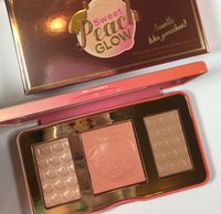 Wholesale Glow Price - lowest price  New Arrivals makeup Sweet Peach Glow infused Bronzers & Highlighters blush palette