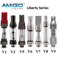 Wholesale Original V8 - Original Itsuwa Amigo Liberty Tank V1 V3 V5 V6 V7 V8 V9 V10 V11 V12 CE3 Cartridges For Thick Oil Touch Vaporizer Ceramic Coil 100% Authentic