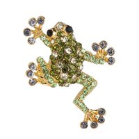 Wholesale Trendy Fashion Wholesale Clothing - Wholesale- Fashion small trendy rhinestone Brooch pins gold plated crystal Brooches women decoration jewelry Clothes accessories