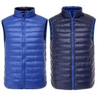 Uomo Anatra Vest Ultra Light Reversible Two-Side Wear Rivestimento senza maniche Giacca manica autunno Inverno