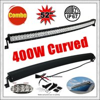 """Wholesale Rescue Boats - 52"""" 400W Car LED Light Bar 60 Led*3W Combo Beam for Off-road SUV Boat Truck Jeep Pickup Tractor Emergency & Rescue Atv Ute Trailer 10-30V"""