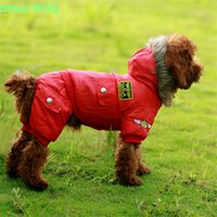 New Arrival Soft and Warm Cotton États-Unis Épaississement de l'Air Force Large Dog Clothes Pet Big Coat XS-5XL