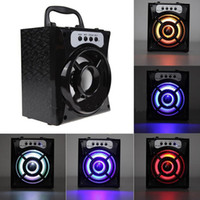 Wholesale Mini Square Speakers - MS-132BT Mini Portable Wireless Bluetooth Square Speaker Support FM Radio LED Shinning TF Micro SD Card Music Playing