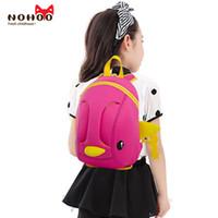 Wholesale Shoulder Bag Duck - Kids Baby Bags For Teenagers NOHOO 3D Duck Neoprene Waterproof Cool Animals School Bags For Boys Girls Kindergarten Children School Bags